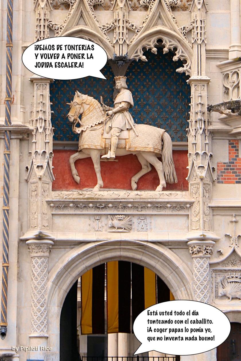 Entrada principal al ala del Rey Luis XII, Castillo de Blois, Francia. Siglo XVI