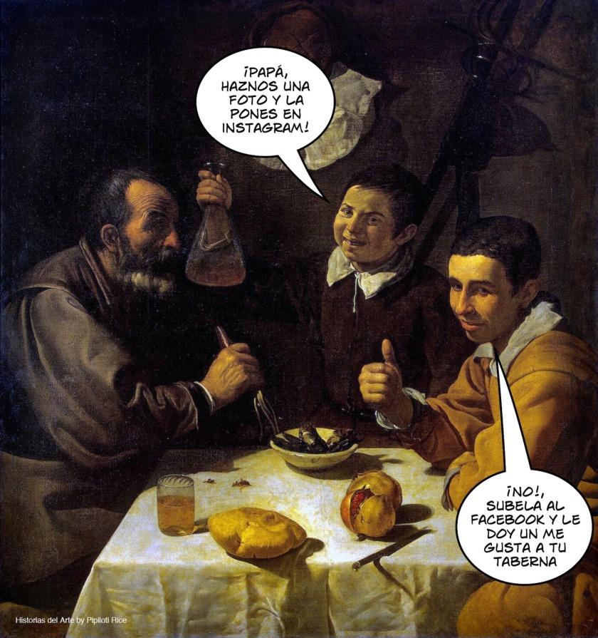 Tres hombres a la mesa (El almuerzo), fue pintado por Velázquez en su primera etapa sevillana hacia 1617-1618 y se conserva en el Museo del Hermitage de San Petersburgo.