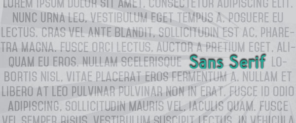 Sans Serif Is the Way: Latest Trends in2014