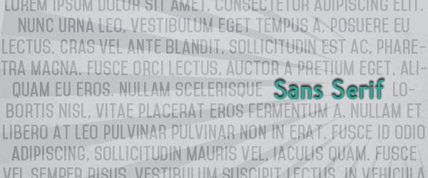 Sans-Serif