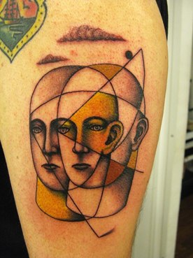 tattoo two faces