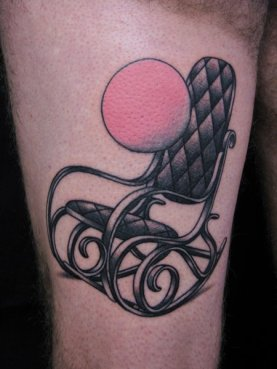 tattoo rocking chair