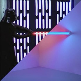 Star Wars: Episode IV – A New Hope, 1977 vs. Dan Flavin, Untitled (To Virginia Dwan), 1971