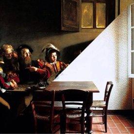 Caravaggio, Vocazione di san Matteo, 1599-1600 vs. Luigi Ghirri, Campegine, 1986