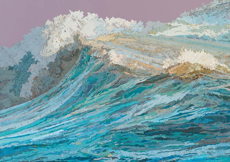 arte-collages-mapa-oceano-Matthew-Cusick-totenart-material-bellas-artes
